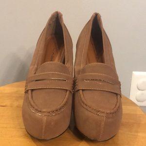 Loafer style platform heels